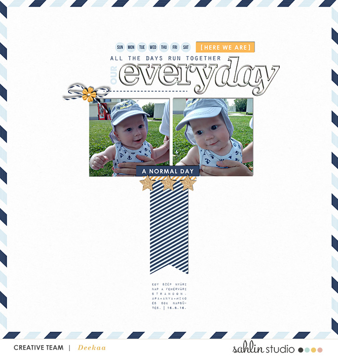 digital scrapbooking created by deekaa featuring The Everyday Routine by Sahlin Studio