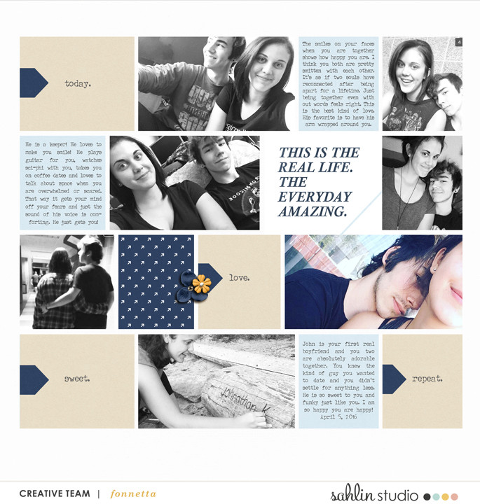 digital scrapbooking created by fonnetta featuring The Everyday Routine by Sahlin Studio