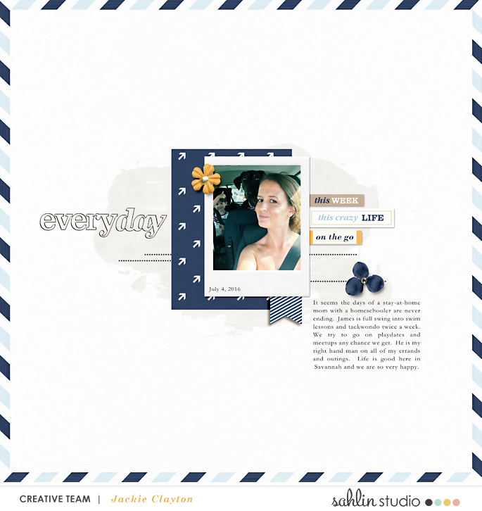digital scrapbooking created by jackieclayton featuring The Everyday Routine by Sahlin Studio