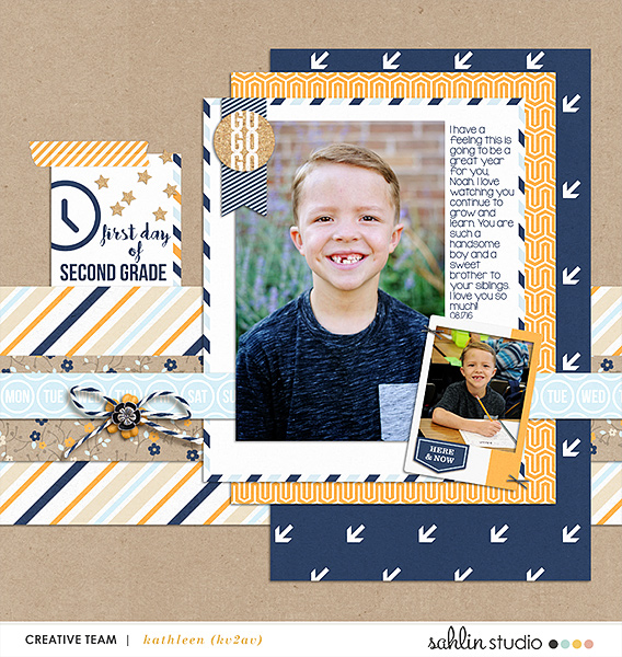 digital scrapbooking created by kv2av featuring The Everyday Routine by Sahlin Studio