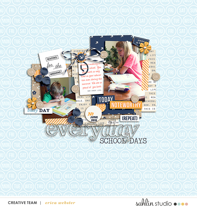 digital scrapbooking created by pne123 featuring The Everyday Routine by Sahlin Studio