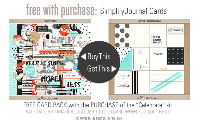Simplify Collection Free with Purchase by Sahlin Studio