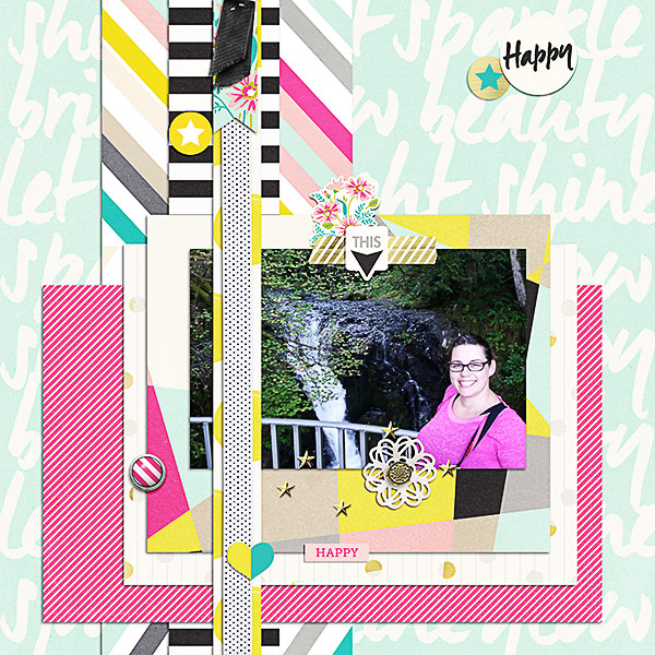 happy created by klee73010 featuring shine bright by sahlin studio