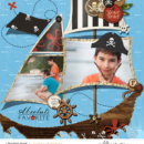 Greece digital scrapbooking page using Project Mouse (Pirates) by Britt-ish Designs and Sahlin Studio