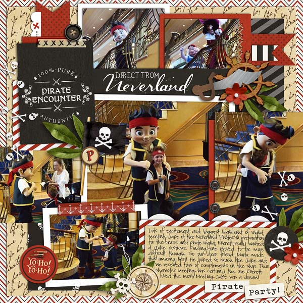Pirate Encounter digital scrapbooking page using Project Mouse (Pirates) by Britt-ish Designs and Sahlin Studio