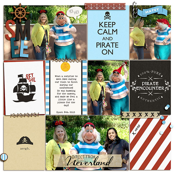 Direct From Neverland digital project life page using Project Mouse (Pirates) by Britt-ish Designs and Sahlin Studio