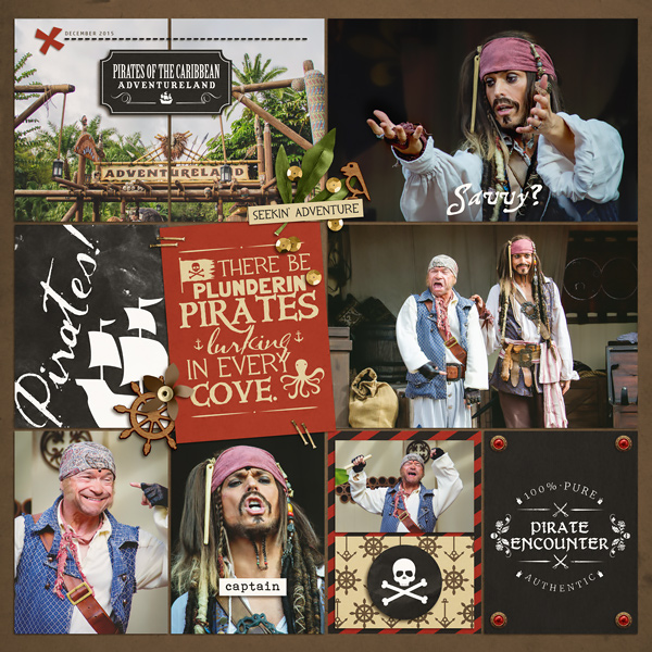 Pirate Encounter digital project life page using Project Mouse (Pirates) by Britt-ish Designs and Sahlin Studio