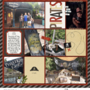 Pirates Lair digital project life page using Project Mouse (Pirates) by Britt-ish Designs and Sahlin Studio
