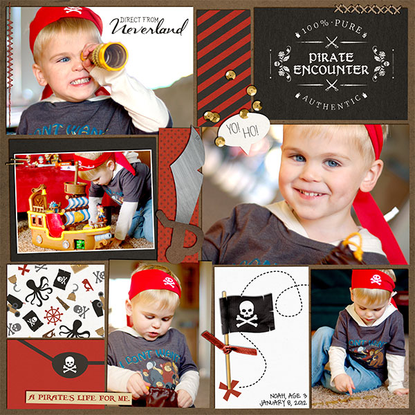 Pirate Costume Encounter digital project life using Project Mouse (Pirates) by Britt-ish Designs and Sahlin Studio