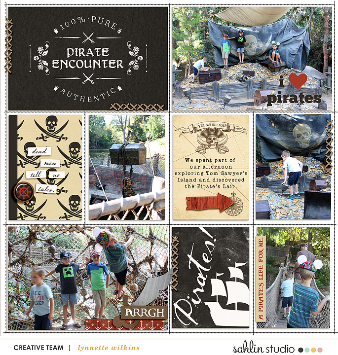 Pirate's Lair digital project life page using Project Mouse (Pirates) by Britt-ish Designs and Sahlin Studio