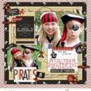 Pirates digital scrapbooking page using Project Mouse (Pirates) by Britt-ish Designs and Sahlin Studio