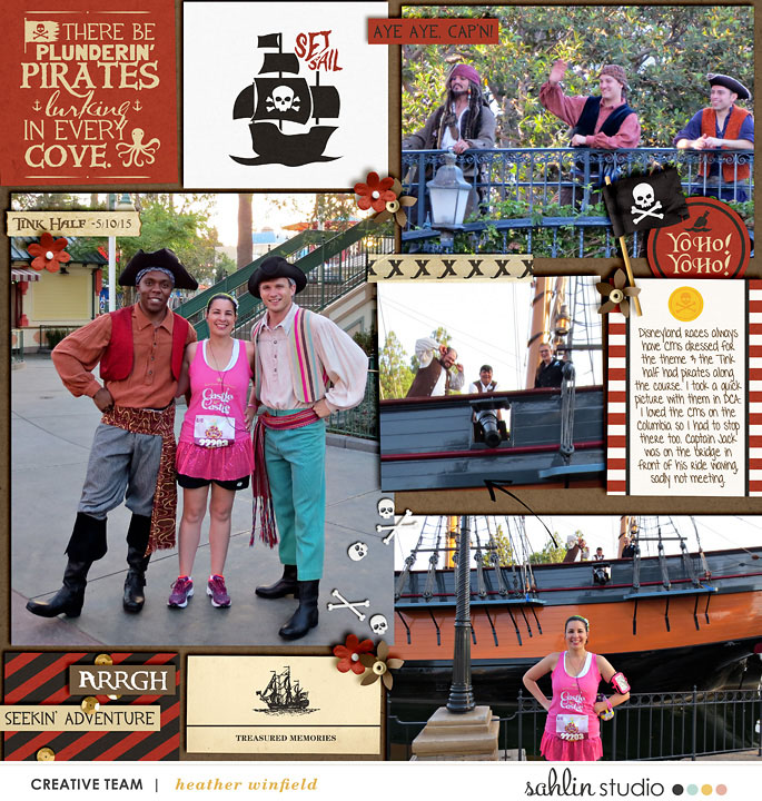 Pirates digital project life page using Project Mouse (Pirates) by Britt-ish Designs and Sahlin Studio
