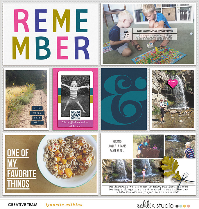 project life page  featuring Photo Journaling The Reason Why by Sahlin Studio and Lined Up Word Art No1 by Sahlin Studio