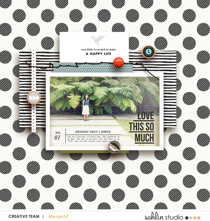 Love You So Much Digital Scrapbooking featuring Photo Journaling | The Reason Why and Lined Up Word Art by Sahlin Studio