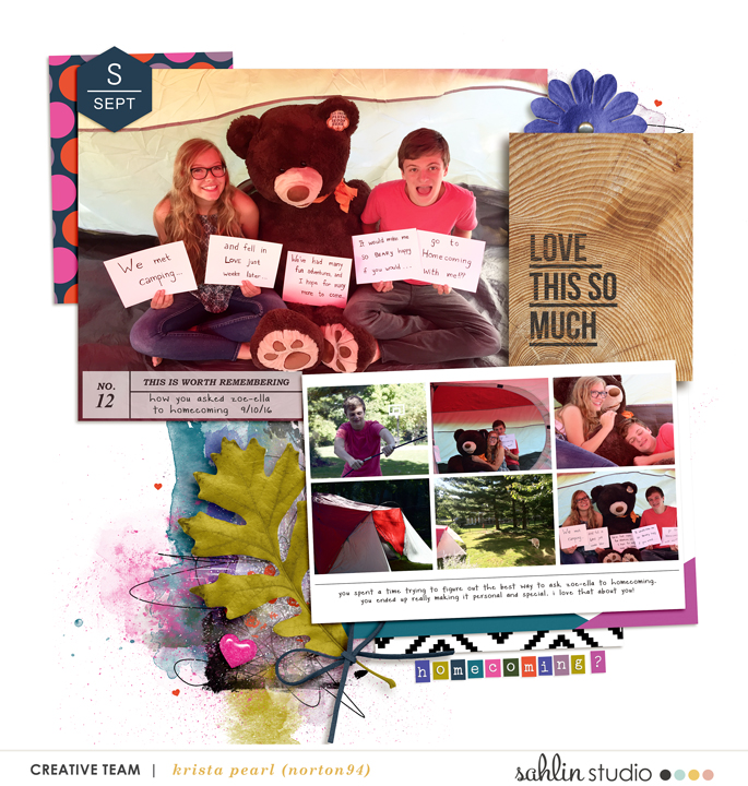 Love This So Much digital scrapbooking page featuring Photo Journaling The Reason Why by Sahlin Studio and Lined Up Word Art No1 by Sahlin Studio