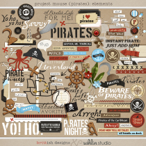 Project Mouse (Pirates) Journal Cards | by Britt-ish Designs and Sahlin Studio