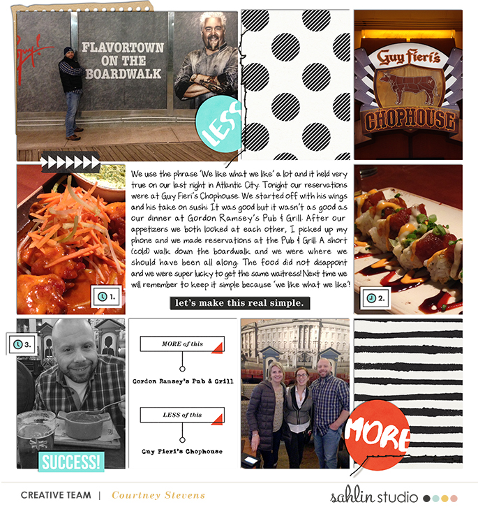 More of this digital project life page featuring Simplify by Sahlin Studio