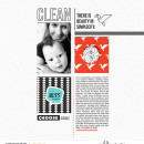 Clean digital scrapbook page featuring Simplify by Sahlin Studio