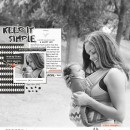 Keep It Simple digital scrapbook page featuring Simplify by Sahlin Studio