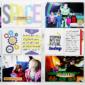 SPACE Tomorrowland Buzz Lightyear Disney Project Life layout