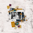 Digital Scrapbooking page using Kindred - Digital Scrapbooking Papers and Kit by Sahlin Studio