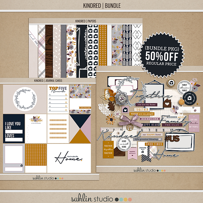 Kindred BUNDLE by Sahlin Studio - Perfect for digital scrapbooking or your Project Life album!