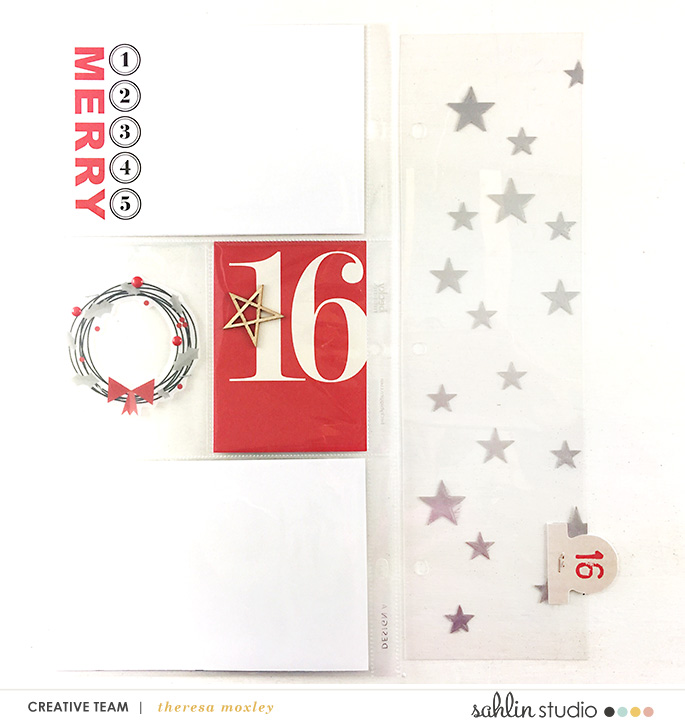 Sahlin Studio Creative Team Theresa Moxley | Getting December Pages Ready