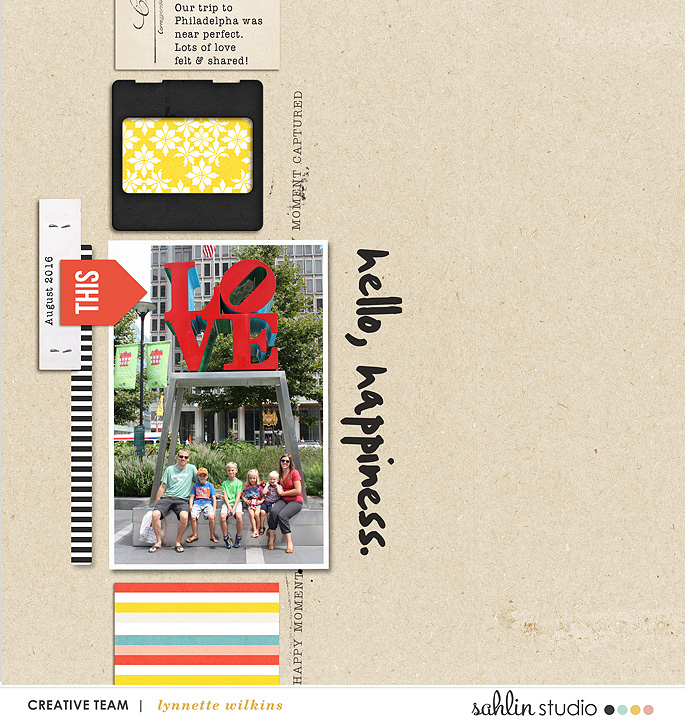 layout created by lynnette featuring products by Sahlin Studio