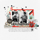 Oh What Fun digital scrapbooking page using Oh What Fun - Digital Printable Scrapbooking Kit by Sahlin Studio