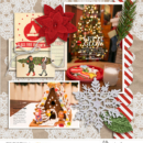 Let It Glow digital scrapbooking page using Photo Journal Templates by Sahlin Studio