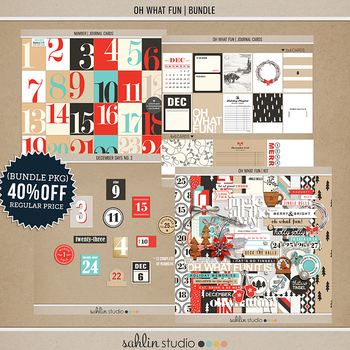 Oh What Fun - Digital Printable Scrapbooking Collection by Sahlin Studio - Perfect for your Project Life or December Daily albums!!