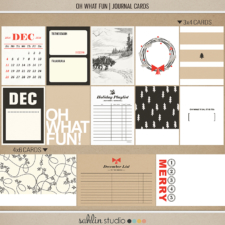 Oh What Fun - Digital Printable Scrapbooking Journal Card Pack by Sahlin Studio - Perfect for your Project Life or December Daily albums!!