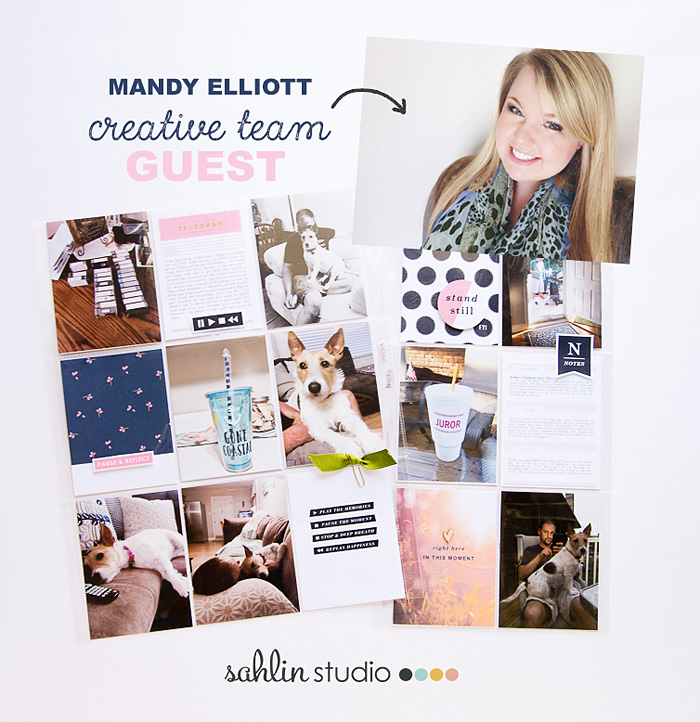 Hybrid Project Life Spread - Documenting a nearly a WHOLE Month | Mandy Elliott Turquoise Avenue