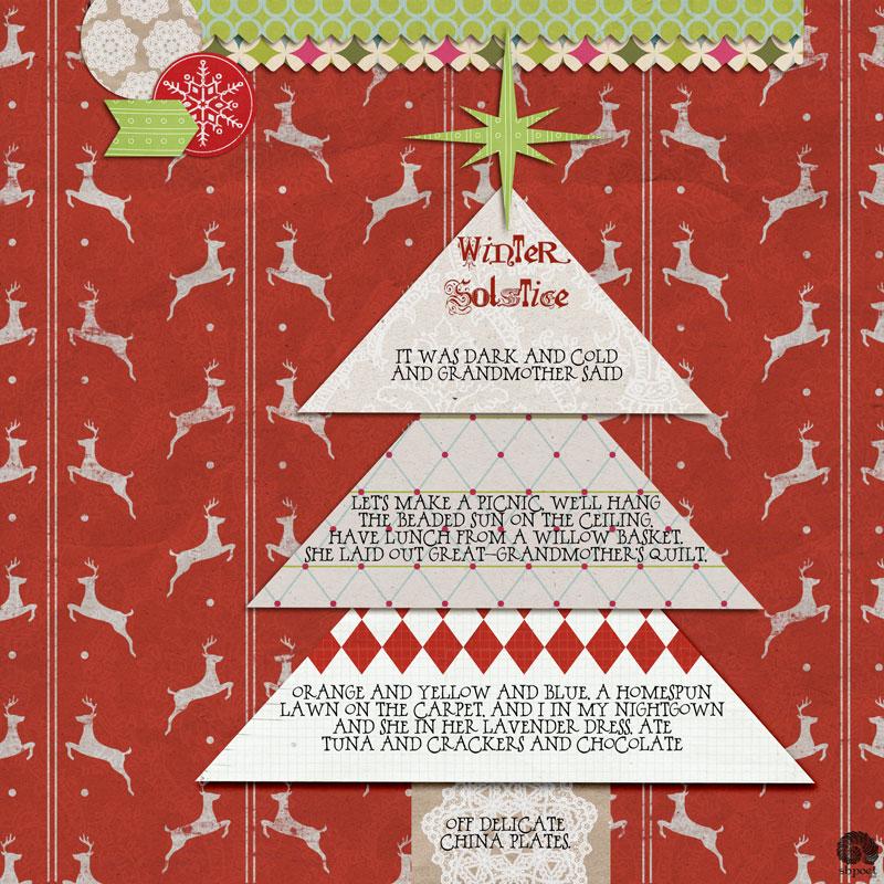 December Template winner layout by sbpoet featuring December 2016 FREE Template by Sahlin Studio