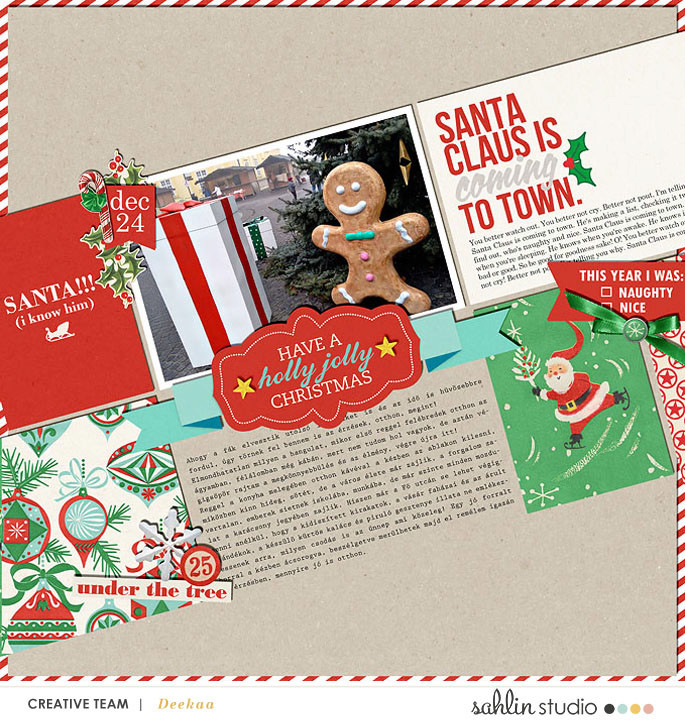 layout by deekaa featuring Santa's Workshop by Sahlin Studio
