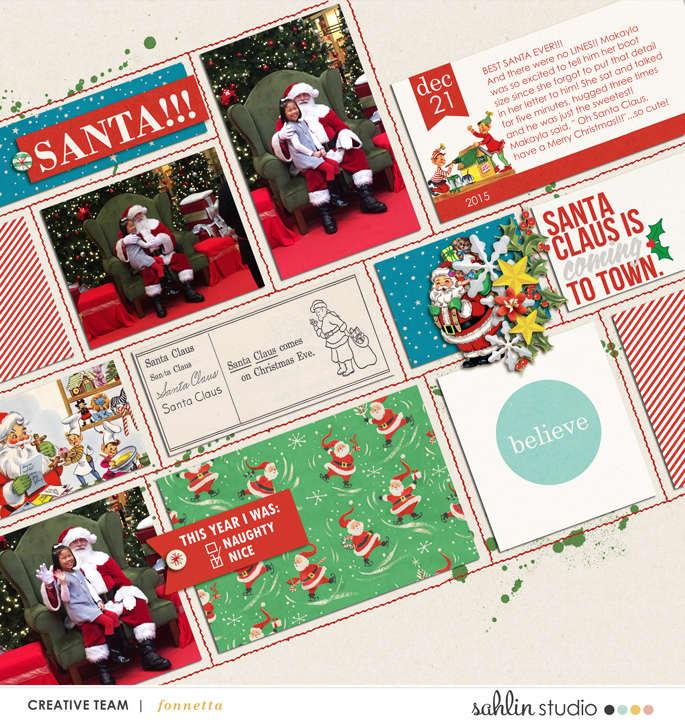 layout by fonnetta featuring Santa's Workshop by Sahlin Studio