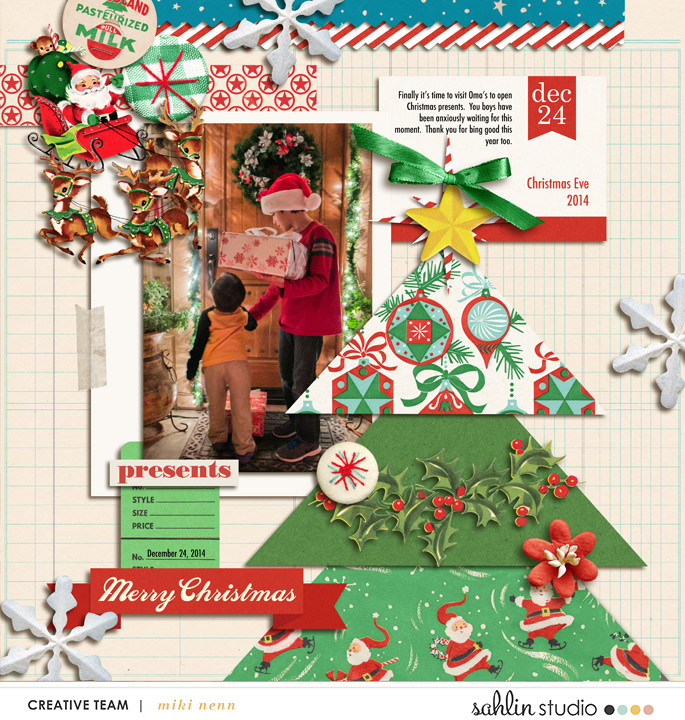 layout by mikinenn featuring Santa's Workshop by Sahlin Studio