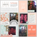Digital Project Life Scrapbooking Layout using the Calendar Cards from Sahlin Studio - Now in 2018!!