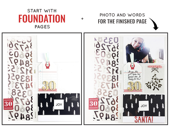 From December Daily Foundation Page to Finished December Daily layouts!
