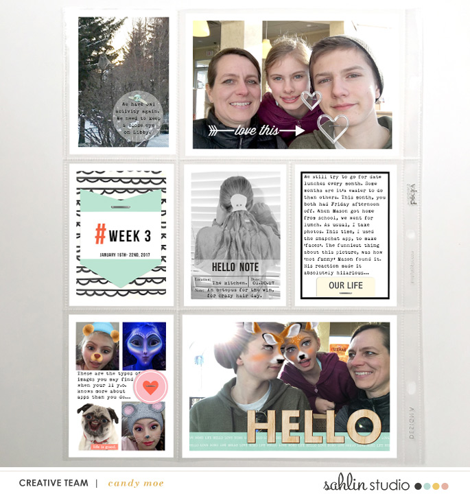 digital scrapbooking layout created by ctmm4 featuring Hello Kit Sampler by Sahlin Studio