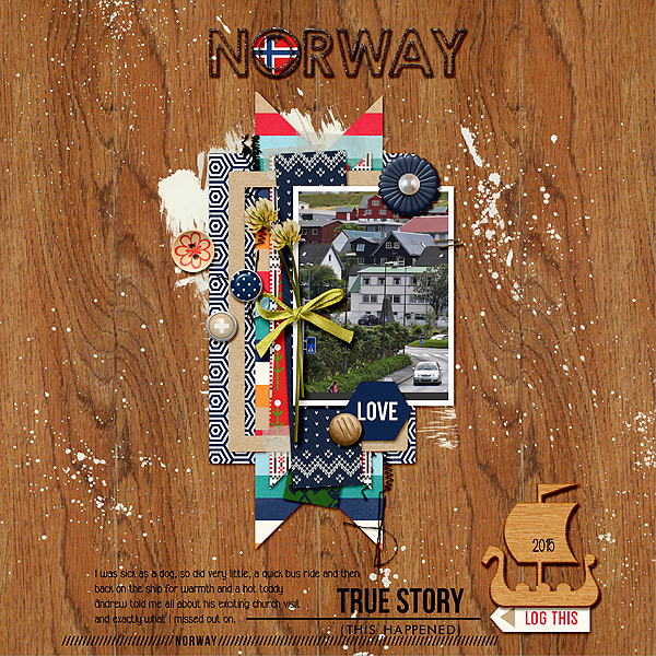 January 2017 Challenge Winner layout by Eyeore featuring Project Mouse (World): Norway by Sahlin Studio and Britt-ish Designs
