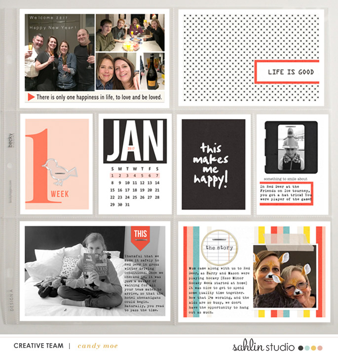 Scrapbook With Numbers digital Project Life layout using Numbers | Journal Cards