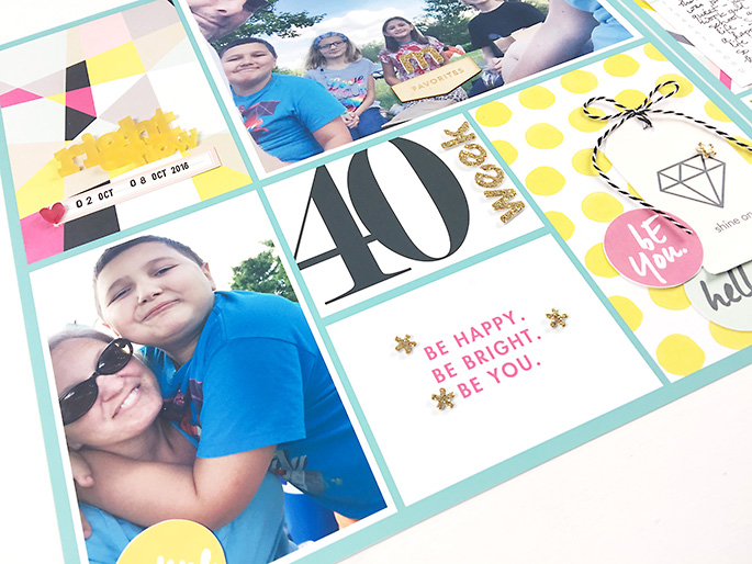Scrapbook With Numbers Project Life layout using Numbers | Journal Cards