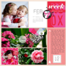 February digital Project Life scrapbooking page using Photo Rounds - Days Weeks by Sahlin Studio and MPM Memory Pocket Monthly Collection