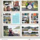 Camping Trip hybrid project life page by ctmm4 using Photo Rounds - Days by Sahlin Studio