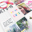 Project Life scrapbooking page using Photo Rounds - Days Weeks by Sahlin Studio and MPM Memory Pocket Monthly Collection