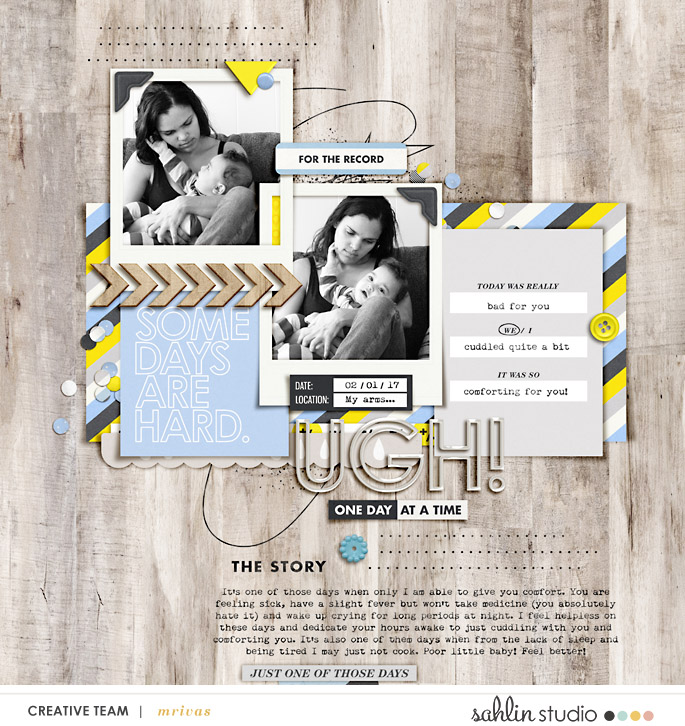 Ugh digital scrapbooking page by mrivas2181 using Rough Times by Sahlin Studio