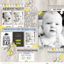 Some Days Are Hard digital scrapbooking page by pne123 using Rough Times by Sahlin Studio