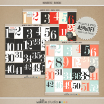 Numbers (Basic) | Journal Cards - Digital Printable Scrapbooking Journal Card Pack by Sahlin Studio - Perfect for your Project Life, Project 52 or December Daily albums!!