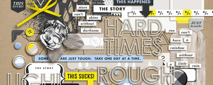 Rough Times | Journal Cards by Sahlin Studio - Perfect for documenting those Sad, Bad Days, Tough and Hard Times in your Project Life album!